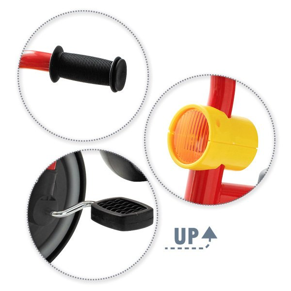 SmartAngel)三輪車funny3(レッド)|nishimatsuya|02