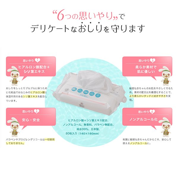 SmartAngel)おしりふき2880枚(80枚×36個パック)【水99%】【ケース品】 nishimatsuya 03