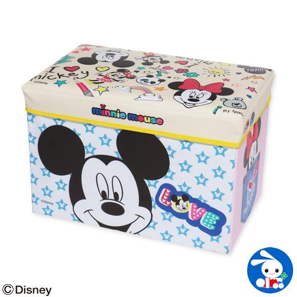 座れるおもちゃ箱(ミッキー&ミニー)