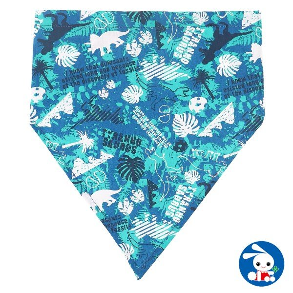 ゴム付き三角巾(恐竜)