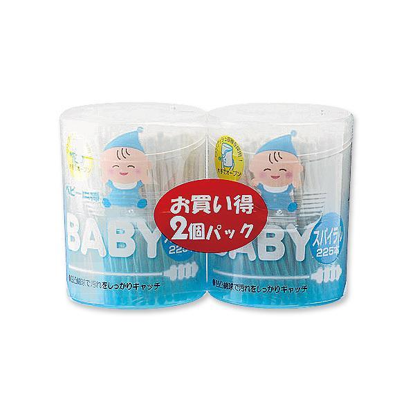 抗菌ベビー綿棒スパイラル2個パック