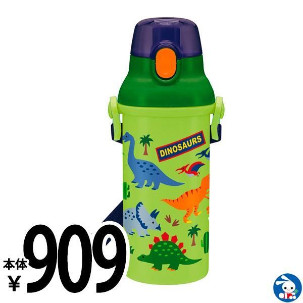 直飲みプラスチックワンタッチボトル(ディノサウルス)