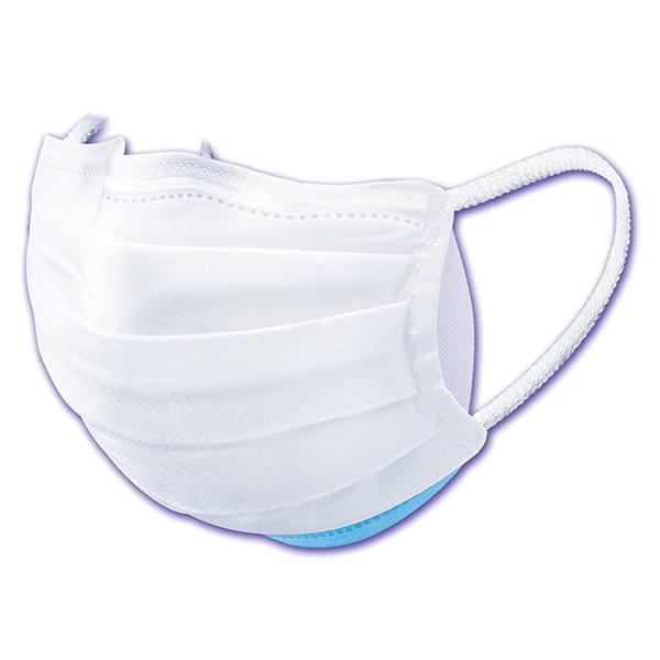 コーワ)三次元 高密着マスク ナノ 【小さめSサイズ/145mm】(ホワイト&ライトピンク/5枚入)[ ナノ繊維フィルター インフルエンザ 花粉 PM2.5 日本製 ]|nishimatsuya|04