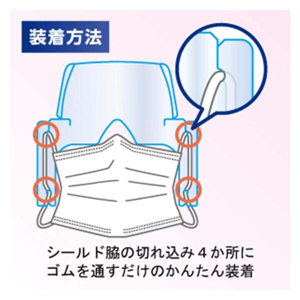 フェイスシールド 日本製 50枚 即日発送 フェイスガード 超軽量 国内発送 マスク装着タイプ 目立たない ウィルス対策 飛散防止 特許出願済 アイガード メール便 nishisato 06