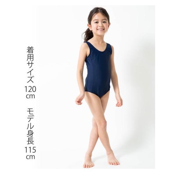 b595be0157e ... 水着 スクール キッズ ラン型 ワンピース 女の子 スポーツウェア 身長120〜165cm ニッセン|nissenzai ...