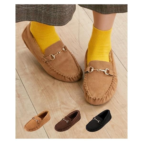 レディース 内ボアビットモカシンシューズ 靴 22.5〜23.0/23.0〜23.5/23.5〜24.0/24.0〜24.5cm ニッセン