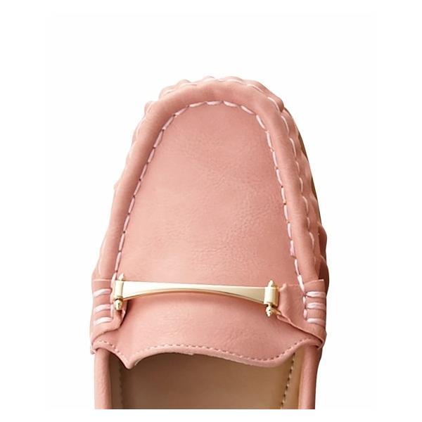 大きいサイズ レディース ビット付モカシンシューズ(低反発中敷)(ワイズ4E) 春 靴 25.0〜25.5cm ニッセン