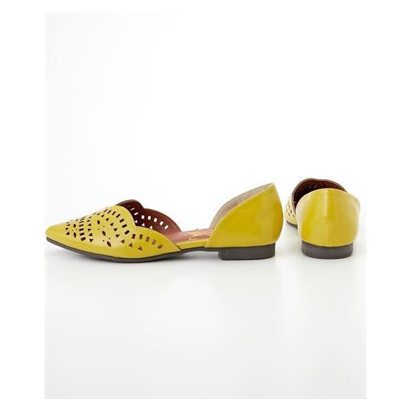 大きいサイズ 靴 レディース カットワークフラット パンプス 低反発中敷 ワイズ4E  25.0〜25.5cm ニッセン