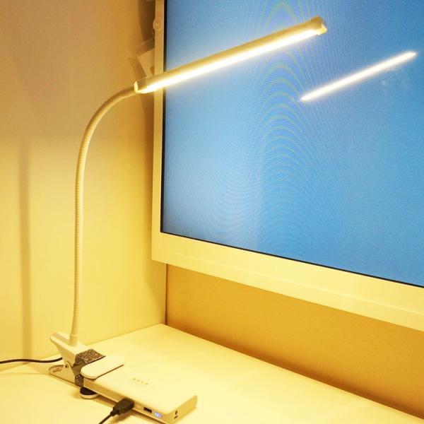 ledデスクスタンドライト 学習机 テーブルスタンド 卓上ライト スタンドライト 省エネ 目に優しい 調光調色 360度調節 USB給電タイプ ブラック/ホワイト|nissin-lux|03