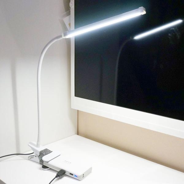 ledデスクスタンドライト 学習机 テーブルスタンド 卓上ライト スタンドライト 省エネ 目に優しい 調光調色 360度調節 USB給電タイプ ブラック/ホワイト|nissin-lux|04