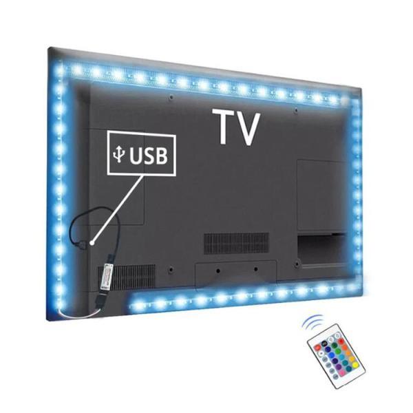 LED テープライト USB対応 2m SMD3528 5V  LEDテープ RGB 間接照明 棚下照明 テレビの背景照明用LED nissin-lux 06