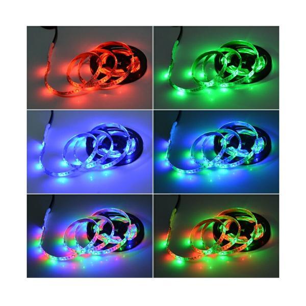 LED テープライト USB対応 2m SMD3528 5V  LEDテープ RGB 間接照明 棚下照明 テレビの背景照明用LED nissin-lux 07