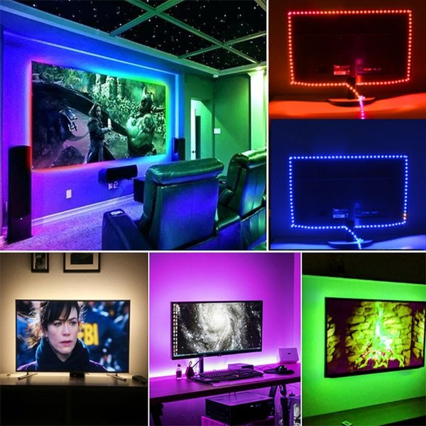 LED テープライト USB対応 2m SMD3528 5V  LEDテープ RGB 間接照明 棚下照明 テレビの背景照明用LED nissin-lux 08