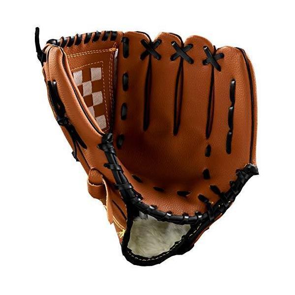 Wonni野球グローブ軟式一般オールラウド内野手右投げキャッチボール子供少年大人用10.511.512.5インチ衝撃吸