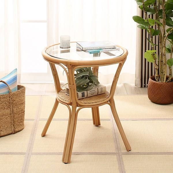 ラタンカフェテーブル(ケレックN)