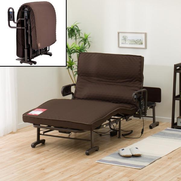 背と脚が独立可動する電動ベッド(AX-BE635N)