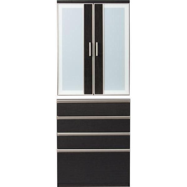食器棚(ポスティア 80DB BK) ニトリ 『送料無料・配送員設置』 『5年保証』
