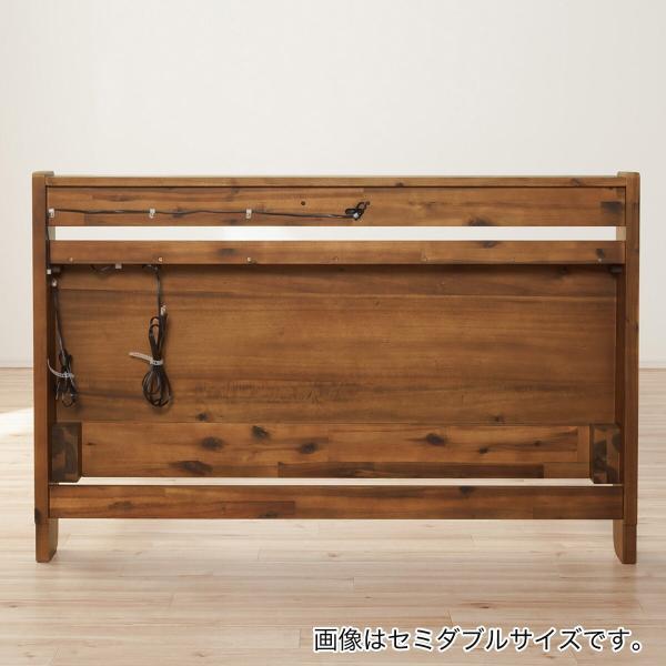 天然木アカシアベッドフレーム(キャビネットフレーム S) ニトリ 『配送員設置』 『5年保証』|nitori-net|16