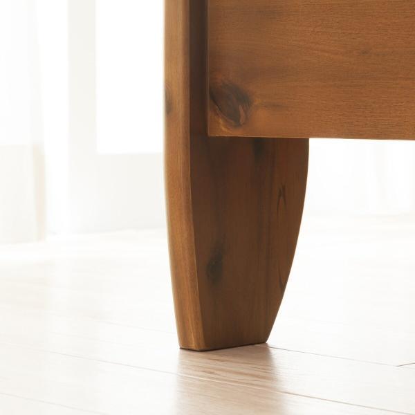 天然木アカシアベッドフレーム(キャビネットフレーム S) ニトリ 『配送員設置』 『5年保証』|nitori-net|17