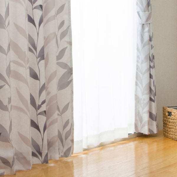 (1枚入り)裏地付き遮熱カーテン(コリヌ グレー 100X140X1) ニトリ 『玄関先迄納品』|nitori-net|02
