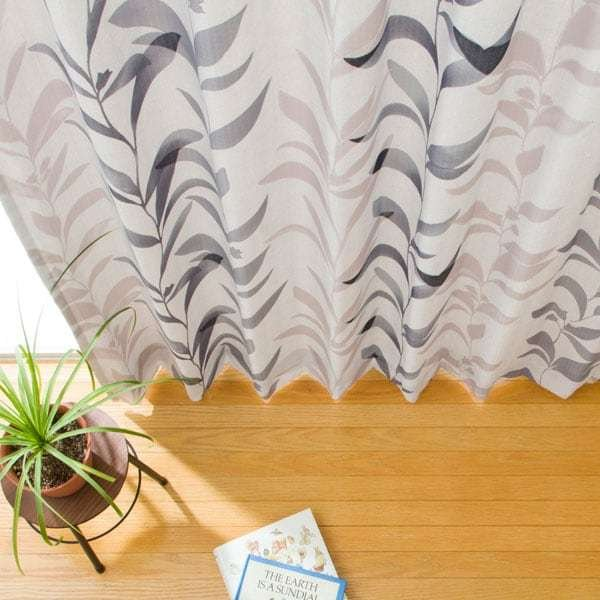 (1枚入り)裏地付き遮熱カーテン(コリヌ グレー 100X178X1) ニトリ 『玄関先迄納品』|nitori-net|03