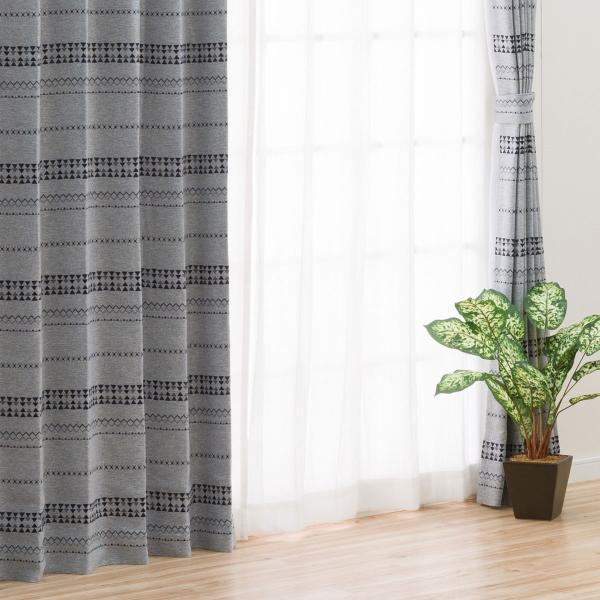 遮光1級・遮熱カーテン(パラス グレー 100X110X2) ニトリ 『玄関先迄納品』 『1年保証』|nitori-net|02