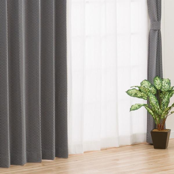 既製カーテン(オーブリー グレー 100X200X2) ニトリ 『玄関先迄納品』|nitori-net|02