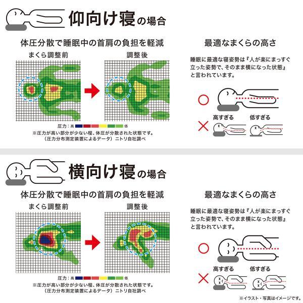 高さが10ヵ所調整できる枕 (パイプ) ニトリ 『1年保証』 『玄関先迄納品』|nitori-net|11