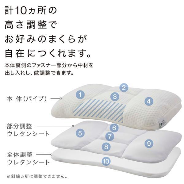 高さが10ヵ所調整できる枕 (パイプ) ニトリ 『1年保証』 『玄関先迄納品』|nitori-net|12
