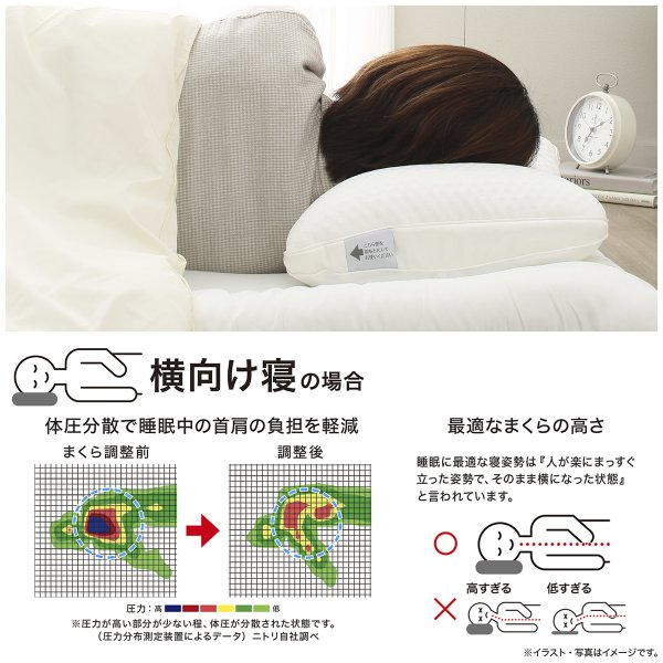 高さが10ヵ所調整できる枕 (パイプ) ニトリ 『1年保証』 『玄関先迄納品』|nitori-net|19