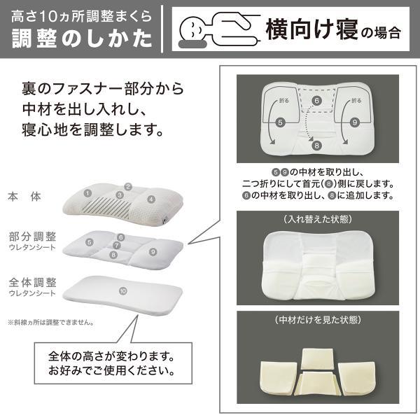 高さが10ヵ所調整できる枕 (パイプ) ニトリ 『1年保証』 『玄関先迄納品』|nitori-net|10