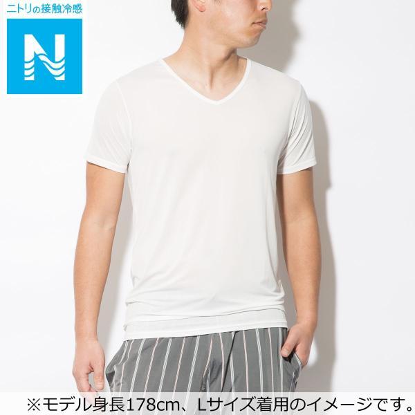 メンズVネッククールTシャツ q-o