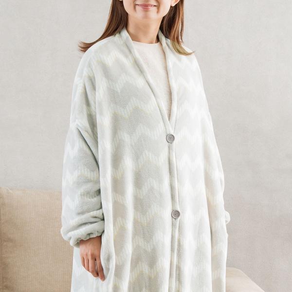 着る毛布(q-o シェブロン)