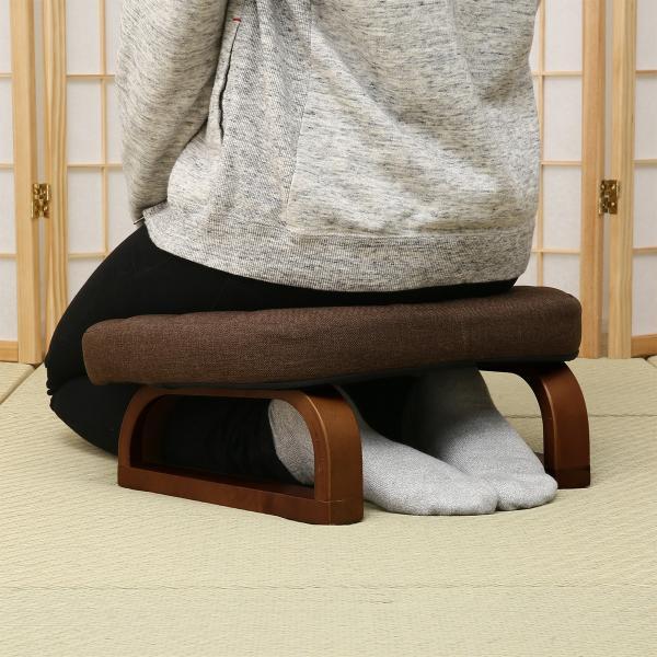 すき間にも収納できるあぐら・正座椅子(ダイチ2)ニトリ『玄関先迄納品』