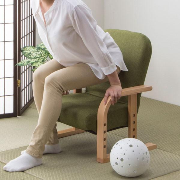 高座椅子 立ち座りラクラク (ハープ2YGR) ニトリ 『玄関先迄納品』|nitori-net|04