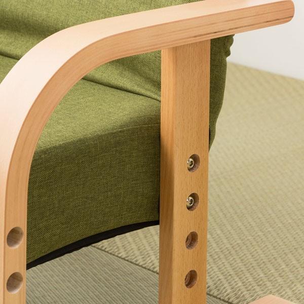 高座椅子 立ち座りラクラク (ハープ2YGR) ニトリ 『玄関先迄納品』|nitori-net|05