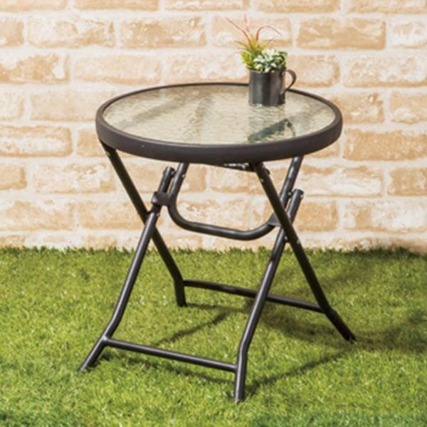 ガラスサイドテーブル(T1015F03 QDY) ニトリ 『玄関先迄納品』