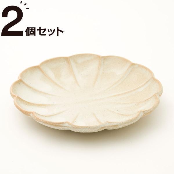 ニトリ『丸型取皿 しのぎ 白釉 2個セット』