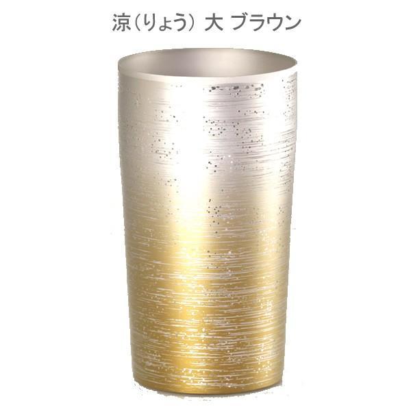 お歳暮 内祝い お返し 涼 りょう 大 チタン タンブラー 保温 保冷 おしゃれ 二重 カップ コーヒー 米寿 プレゼント 金婚式 ビアカップ ビールグラス|niwa-company|02