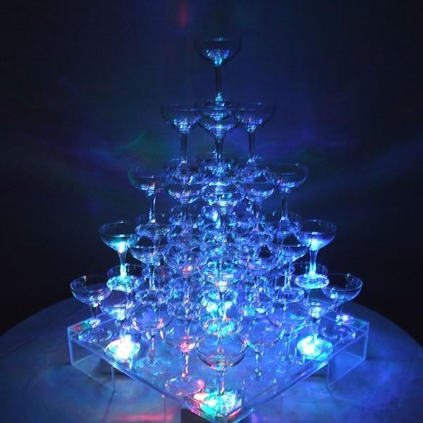 シャンパン グラス タンブラー シャンパンタワー ライト(4個)パーティ 結婚式 二次会 誕生日|niwa-company|02