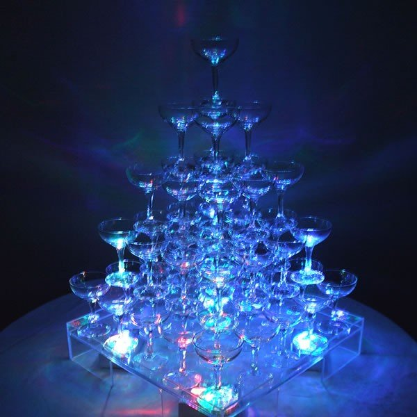 シャンパン グラス タンブラー シャンパンタワーグラスセット5段(60個グラスのみ)予備5個含む バンポン付き パーティ 結婚式 二次会 誕生日|niwa-company|02