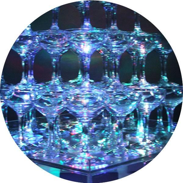 シャンパン グラス タンブラー シャンパンタワーグラスセット5段(60個グラスのみ)予備5個含む バンポン付き パーティ 結婚式 二次会 誕生日|niwa-company|05