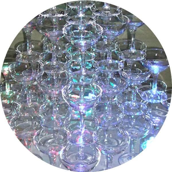 シャンパン グラス タンブラー シャンパンタワーグラスセット5段(60個グラスのみ)予備5個含む バンポン付き パーティ 結婚式 二次会 誕生日|niwa-company|06