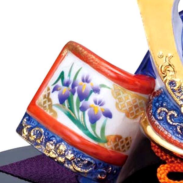 五月人形 兜 鎧 瀬戸焼 薬師窯 染錦出世兜 尚武 大 端午の節句 初節句 お祝い ギフト 贈り物|niwa-company|02