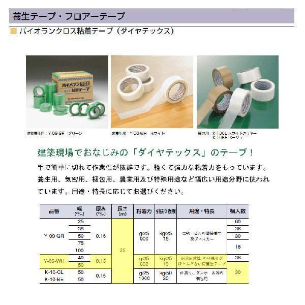 床養生テープ パイオランテープ Y-06-WH 巾50mm×長さ25m 30巻入 ホワイト|niwanolifecore|02