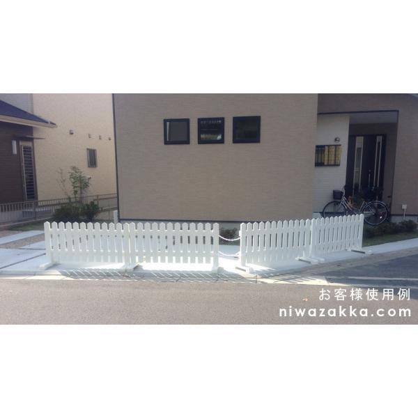 木製ピケットフェンス 幅120cm ブラウン 1個セット niwazakka 15