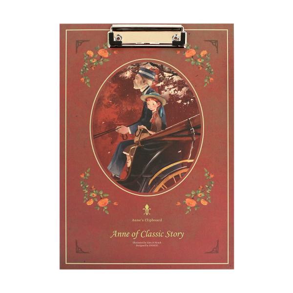 赤毛のアン イラストクリップボード Anne of Classic Story (Red)|niyantarose