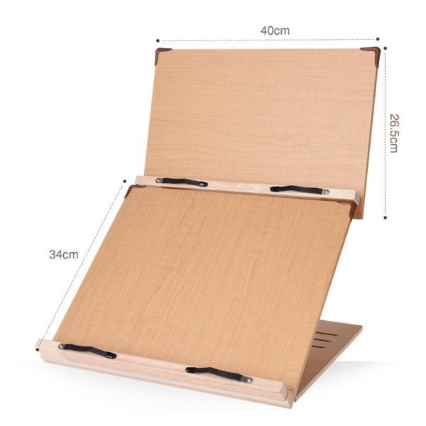 木製 卓上 2段ブックスタンド 40cm幅 多用途 読書台 組立て・分離式  3段階角度調節 S402(メーカー直輸入品)|niyantarose|02