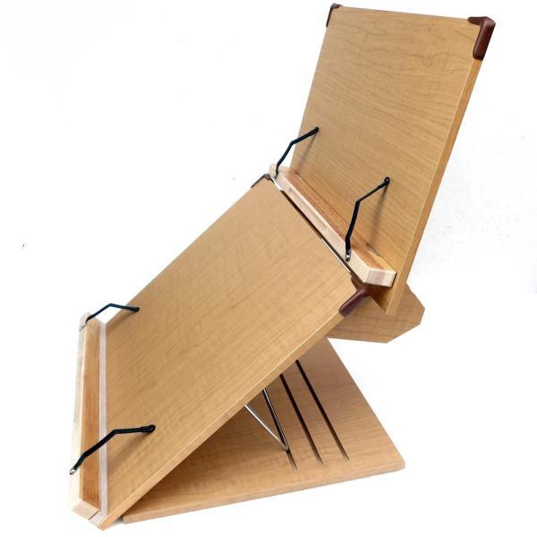 木製 卓上 2段ブックスタンド 40cm幅 多用途 読書台 組立て・分離式  3段階角度調節 S402(メーカー直輸入品)|niyantarose|03