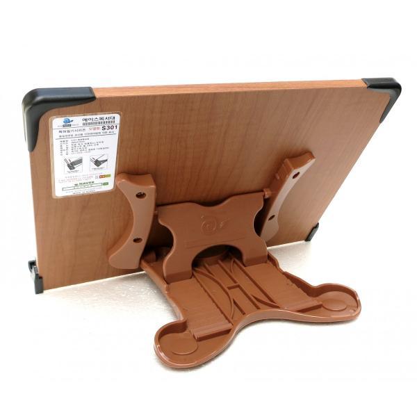 2017新モデル 見やすい角度に14段階調節 木製ブックスタンド コンパクトサイズ(30×21cm)S301 折りたたみ式 多用途 書見台 読書台 筆記台 (メーカー直輸入)|niyantarose|07